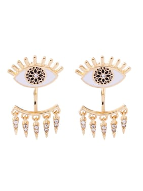Evil Eyes Shaped Women Fashion Stud Earrings