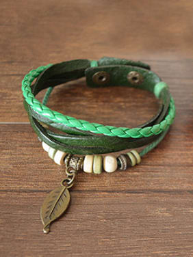 Retro Unisex Cownhide Leather Bracelet
