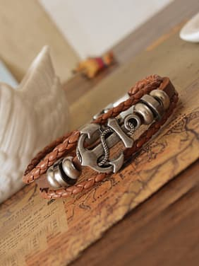 Men Ship Anchor Shaped Bracelet