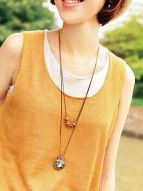 High-grade Round Shaped Wooden Beads Necklace
