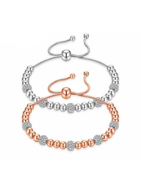 Stainless Steel With Rose Gold Plated Fashion Charm Bracelets