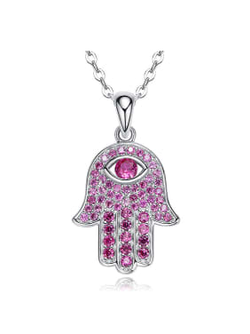 Personalized Cubic Zirconias-covered God's Hand 925 Silver Pendant