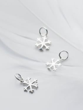 925 Sterling Silver With Silver Plated Fashion snowflake Charms
