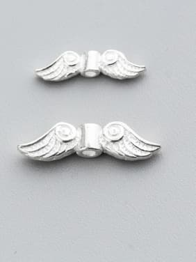 925 Sterling Silver With Silver Plated Cute Angel Angel wings
