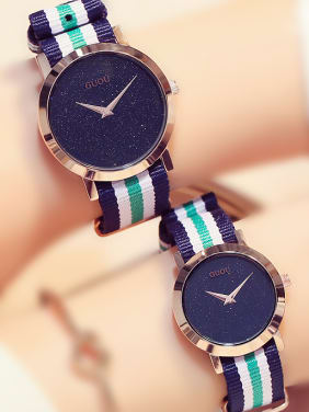 GUOU Brand Sporty Numberless Watch