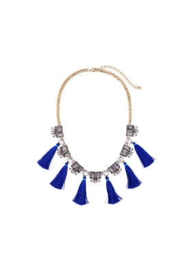 Alloy Individual Tassel Sweater Necklace