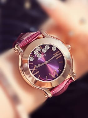 GUOU Brand Classical Movable Rhinestones Watch
