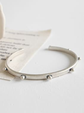 Simplified antique rivet personality open Bracelet