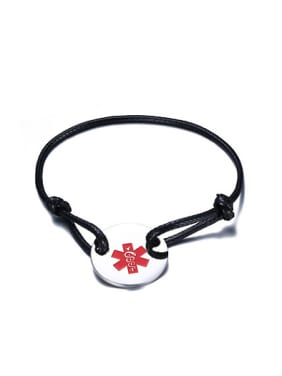 Adjustable Round Shaped Artificial Leather Bracelet