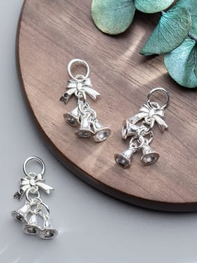 925 Sterling Silver With Silver Plated Classic Christmas bell Charms