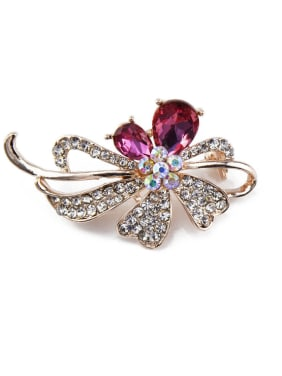 Women Crystals Brooch