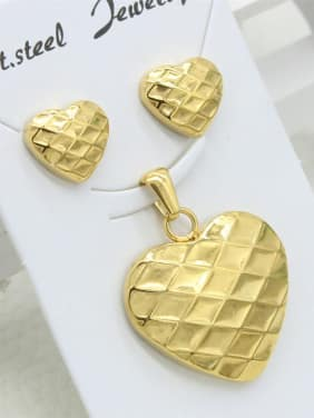 Smooth Heart-shape Gold Plated Set