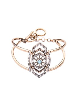 Hollow Retro Alloy Opening Bangle