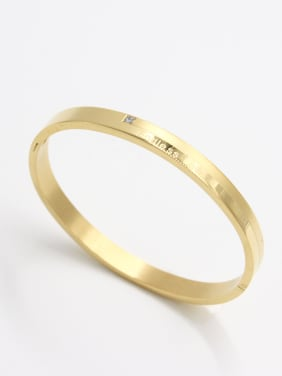 Personalized Stainless steel Gold  Zircon Bangle   59mmx50mm