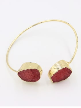 Blacksmith Made Gold Plated Ruby Round Bangle