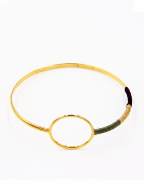 Round style with Gold Plated  Bangle