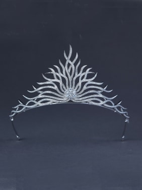 Platinum Plated Zircon Wedding Crown