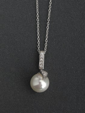 Pearl pendant  925 Silver Necklaces