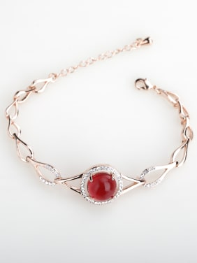 Simple semi-precious stones Bangle