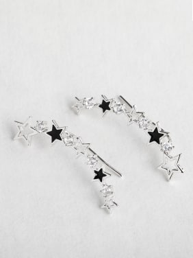 Zircon Star earrings
