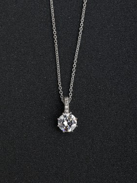 Micro inlay Zircon bling bling 925 Silver Necklaces