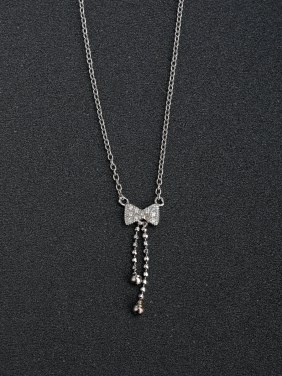 Butterfly knot Pendant 925 Silver Necklaces