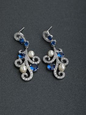 Micro inlay Rhinestone gorgeous 925 silver Stud earrings