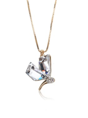Special Stone Butterfly crystal Swarovski element crystal necklace