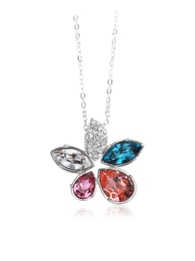 Colorful Crystal flowers  Swarovski element crystal necklace