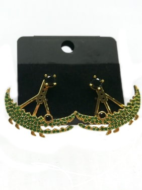 Copper With Gold Plated Fashion Animal Earrings
