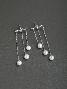 Pendant pearls 925 Silver Earrings