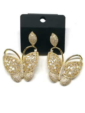 Copper With Gold Plated Trendy Butterfly Earrings