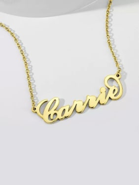 "Customize 925 Sterling Silver Gold plated ""Carrie"" Style Name Necklaces"