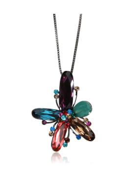 Gorgeous multicolored crystals Swarovski element crystal necklace
