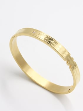 Custom Gold  Bangle with Stainless steel   63MMX55MM