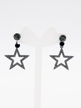 Star Zinc Alloy Rhinestone Grey Drop drop Earring