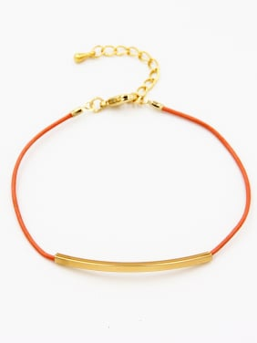 Orange  Bracelet with Gold Plated