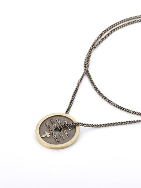 Coffee Gold Plated Brass Round Copper Beautiful necklace