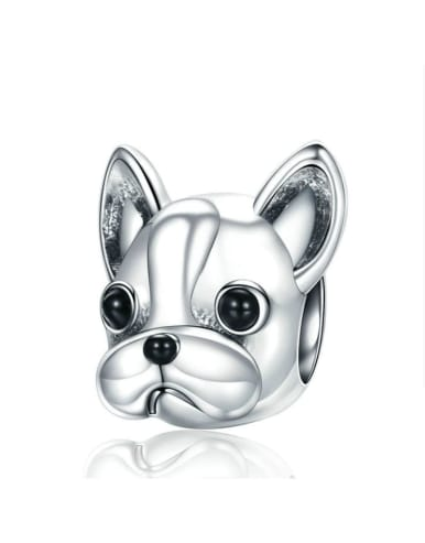 925 Silver Cute Dog Pendant