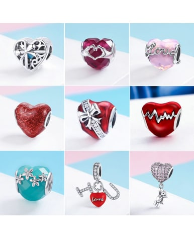 925 Sterling Silver With Antique Silver Plated Classic Heart Jewelry Findings