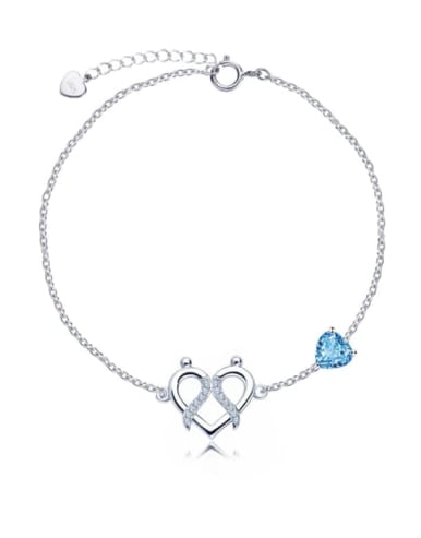 925 Sterling Silver With Topaz 12 Constellation Bracelets