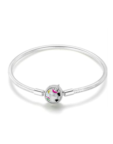 925 silver cute unicorn element basic bracelet