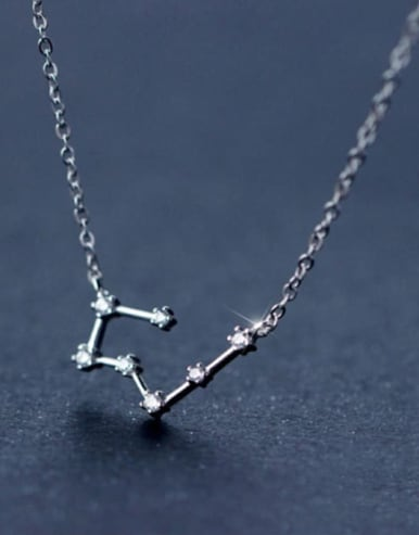 925 Sterling Silver With Cubic Zirconia 12 constellations Necklaces