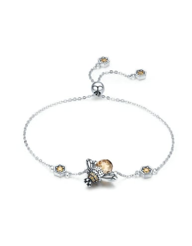 925 Silver Bee Element Bracelet