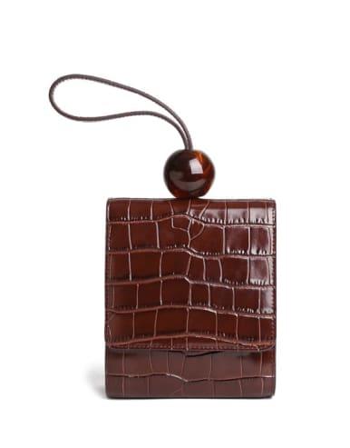Shoulder Bag with Crocodile embossed