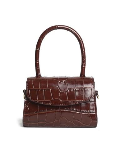 Multicolor_Crocodile Square Bag/handbag/shoulder bag