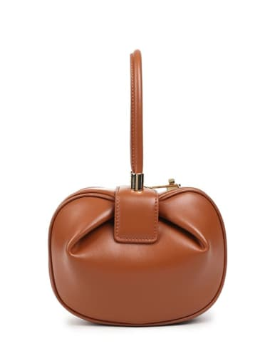 Split leather round share handle bags