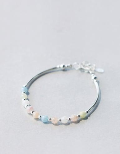 S925 Silver multi- Color Crystal Bracelet