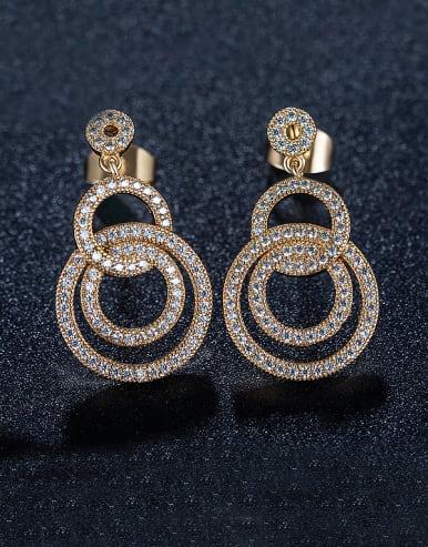 Number Zircon Chandelier earring