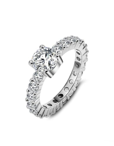 Fashion Shiny Cubic Zircon Ring